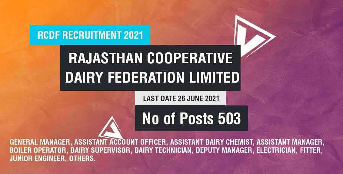 RCDF Recruitment 2021 Job Listing thumbnail.