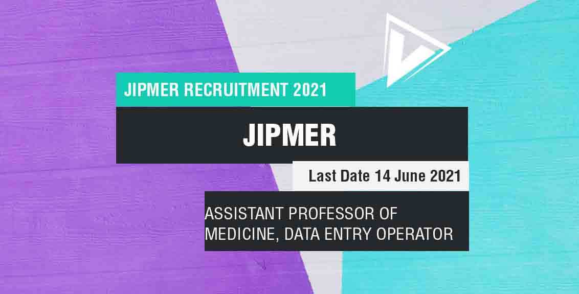 jipmer recruitment 2021: Job Listing thumbnail.