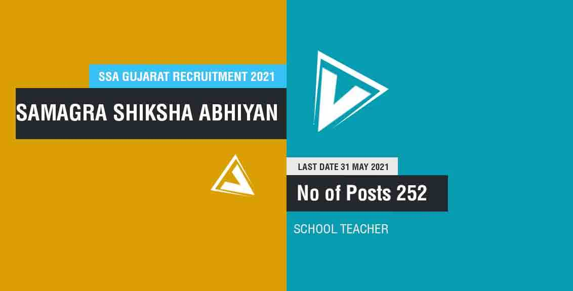 SSA Gujarat Recruitment 2021: Samagra Shiksha Abhiyan, Gujarat Job Listing thumbnail.