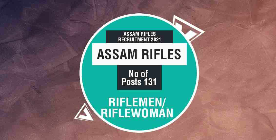 Assam Rifles Recruitment 2021 Job Listing thumbnail.