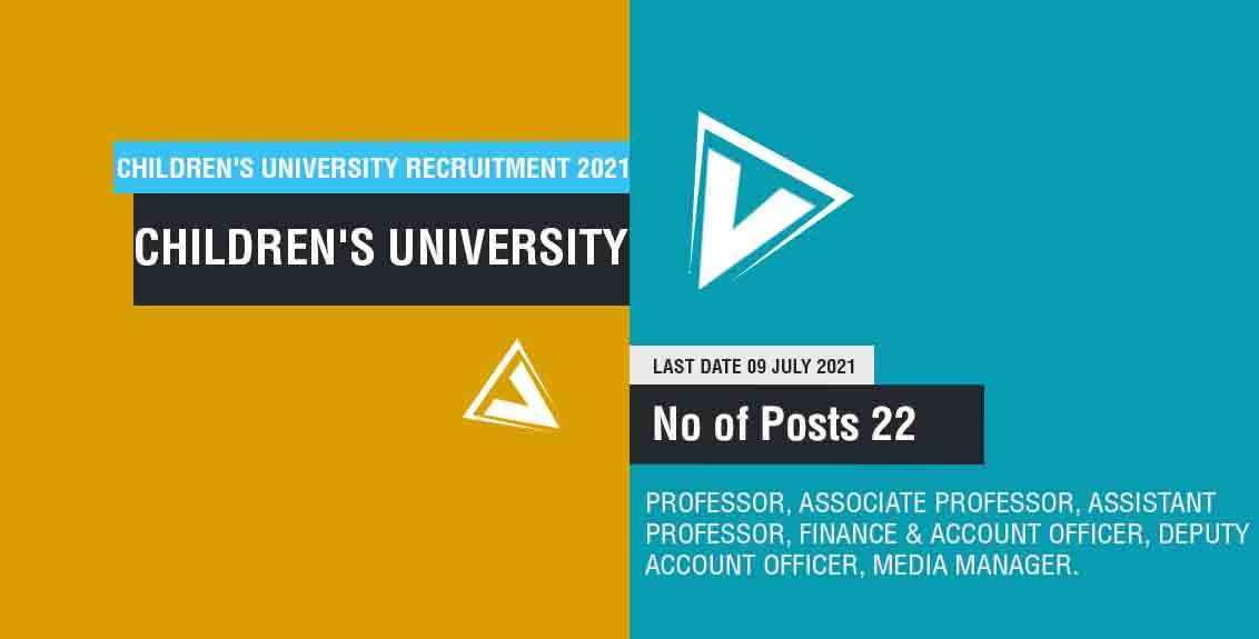 Children's University Recruitment 2021 job listing thumbnail.