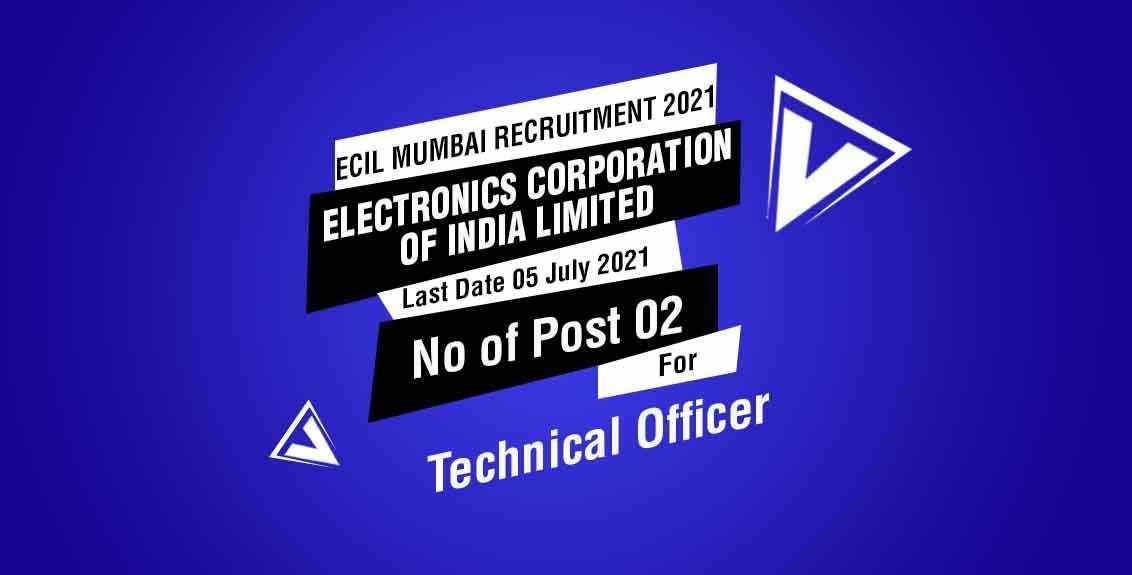 ECIL Mumbai Recruitment 2021 Job Listing Thumbnail.