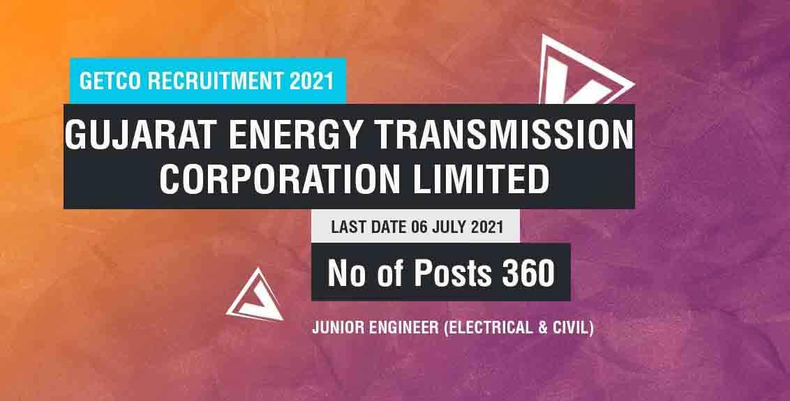 GETCO Recruitment 2021 Job Listing Thumbnail.