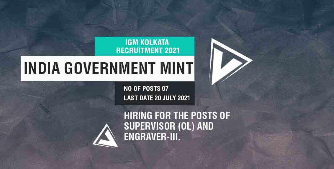 IGM Kolkata Recruitment 2021 Job Listing Thumbnail.