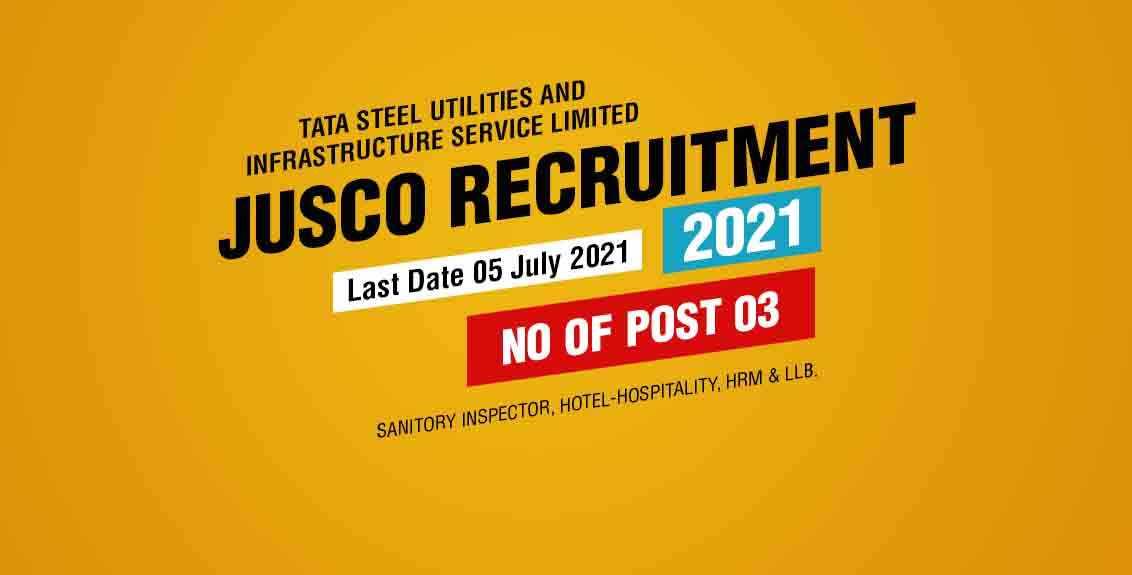 JUSCO Recruitment 2021 job listing thumbnail.
