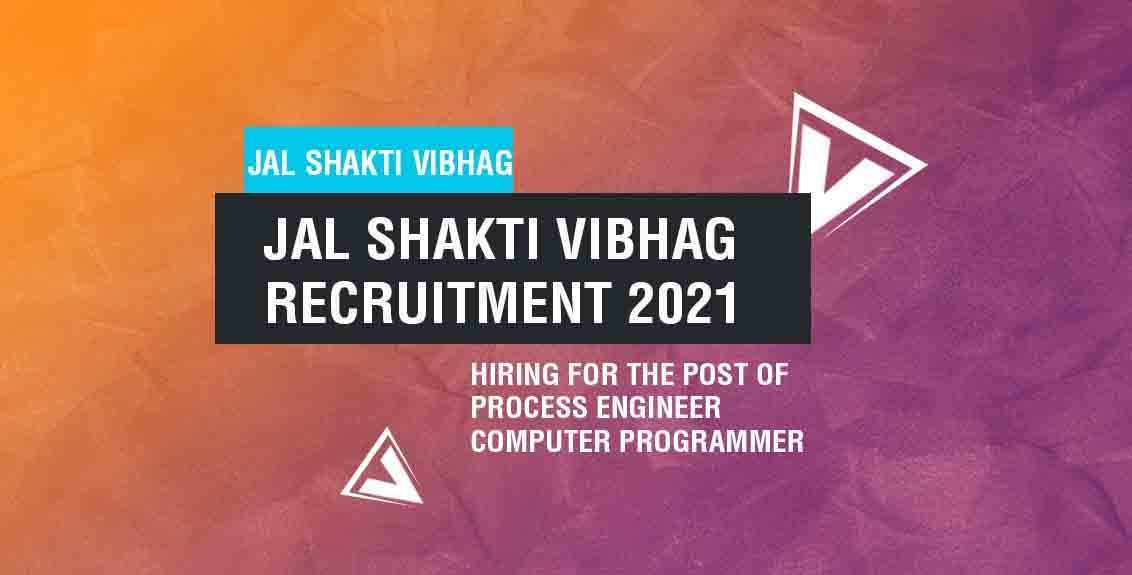 Jal Shakti Vibhag Recruitment 2021 Job Listing Thumbnail.