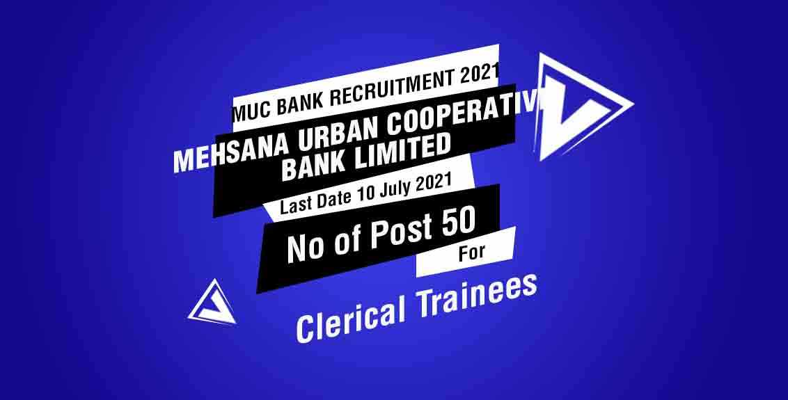 MUC Bank Recruitment 2021 Job listing thumbnail.