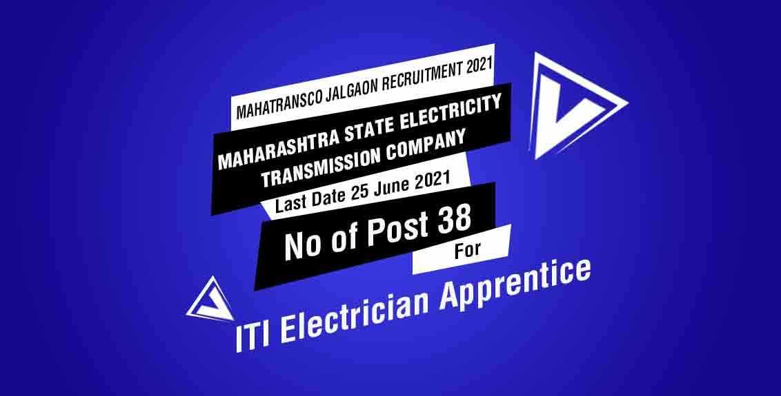 MahaTransco Jalgaon Recruitment 2021 Job Listing Thumbnail.
