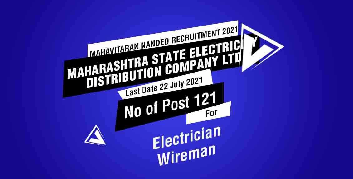 Mahavitaran Nanded Recruitment 2021 Job Listing thumbnail.