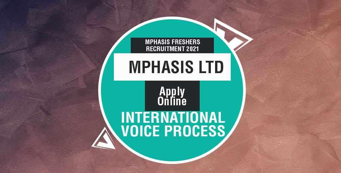 Mphasis Freshers Recruitment 2021 Job Listing thumbnail.