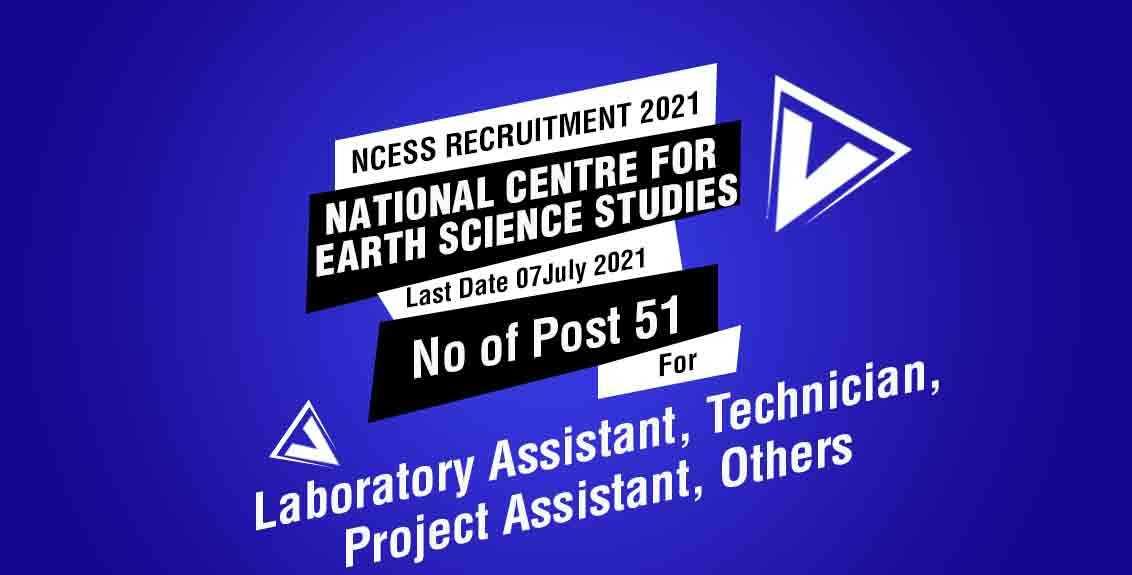 NCESS Recruitment 2021 Job Listing Thumbnail.