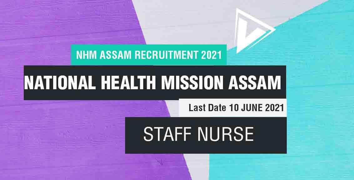 NHM Assam Recruitment 2021 Job Listing Thumbnail.