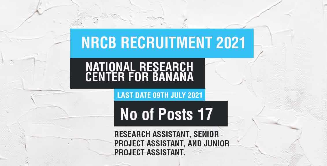 NRCB Recruitment 2021 Job listing thumbnail.