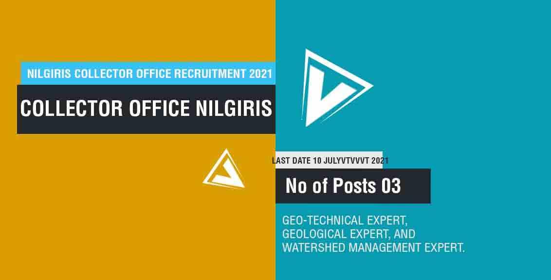 Nilgiris Collector Office Recruitment 2021 Job listing thumbnail.