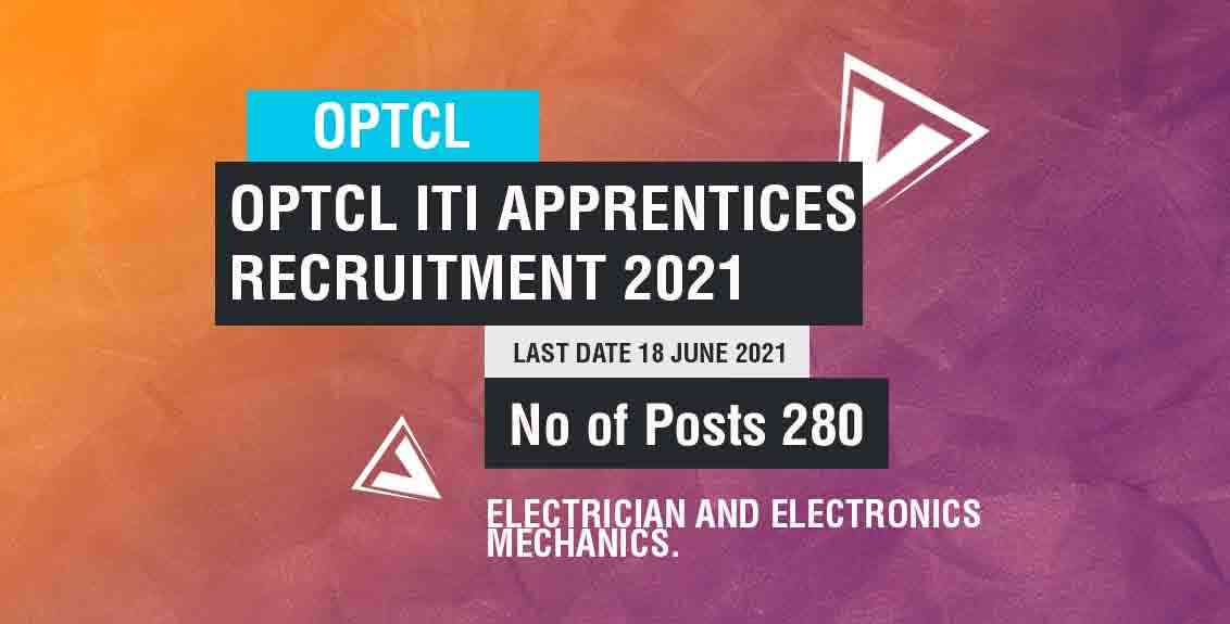 OPTCL ITI Apprentices Recruitment 2021 Job Listing Thumbnail.