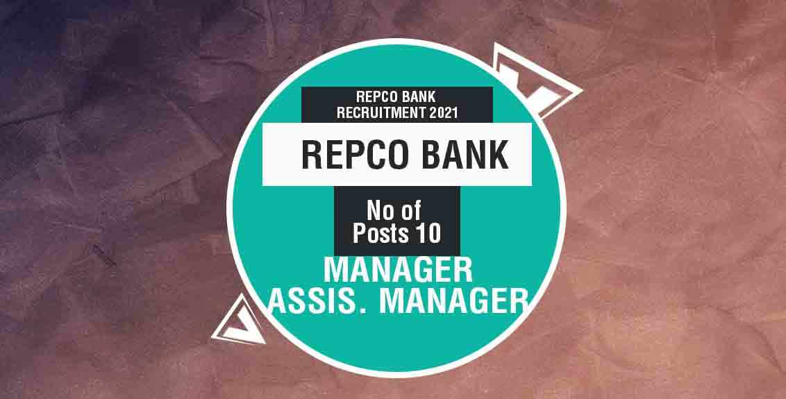 Repco Bank Recruitment 2021 Job Listing thumbnail.