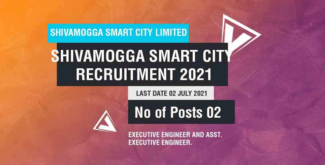 Shivamogga Smart City Recruitment 2021 Job Listing thumbnail.