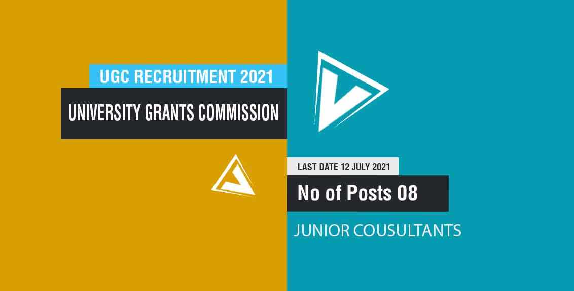 UGC Recruitment 2021 Job Listing thumbnail.