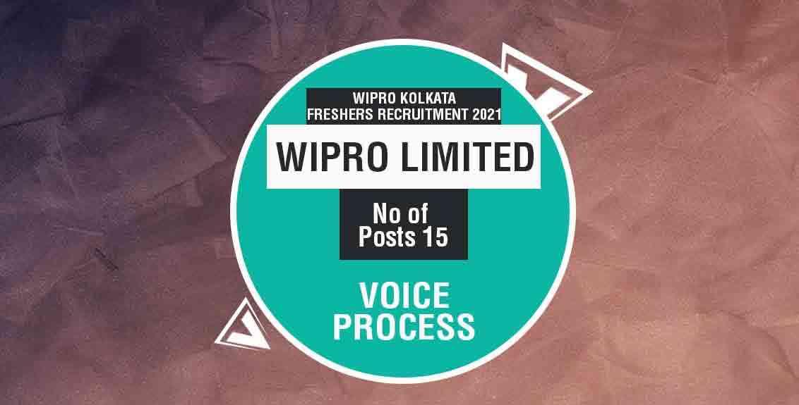 Wipro Kolkata Recruitment 2021 Job Listing Thumbnail.