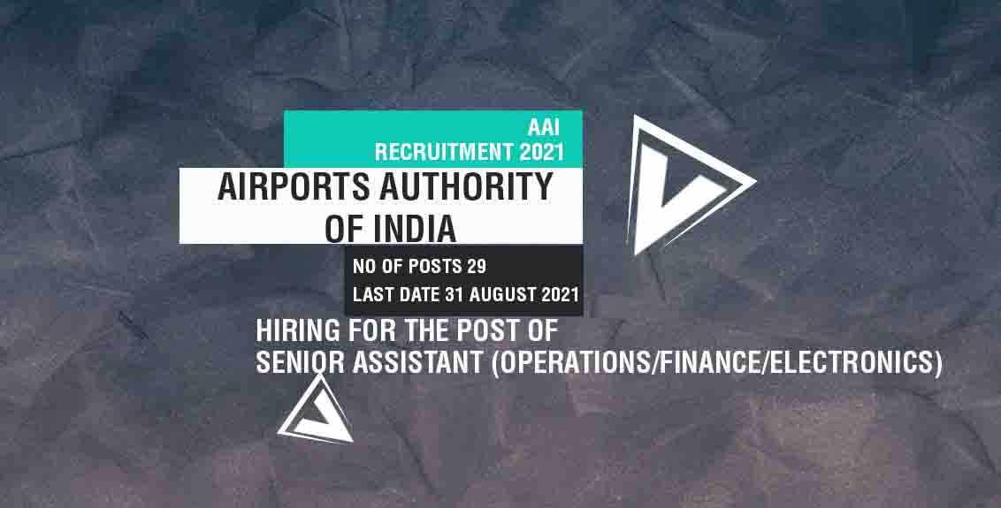 AAI Recruitment 2021 Job Listing thumbnail.