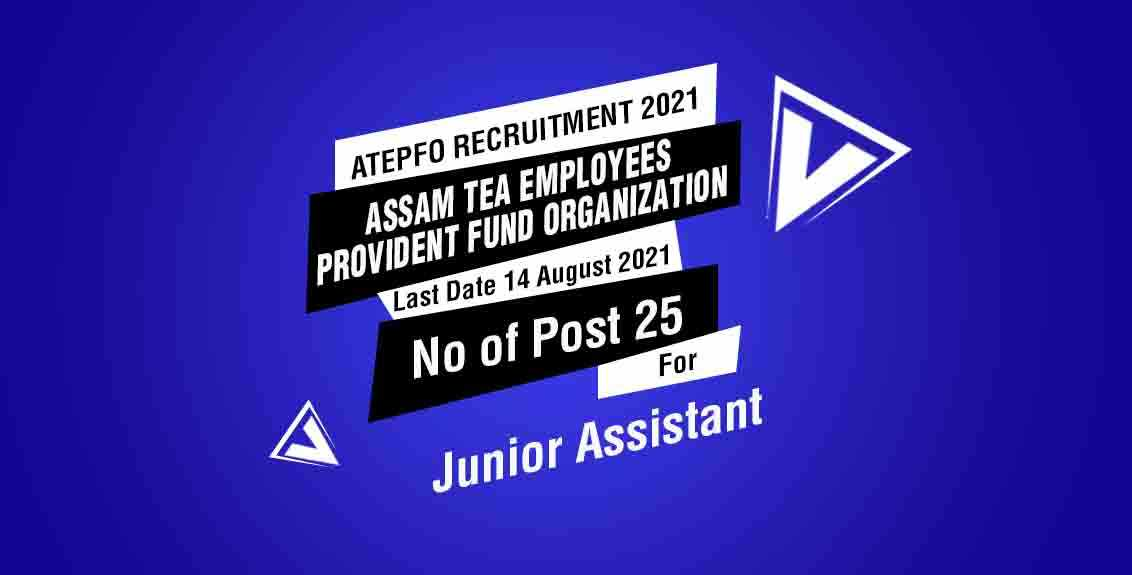 ATEPFO Recruitment 2021 Job Listing Thumbnail.