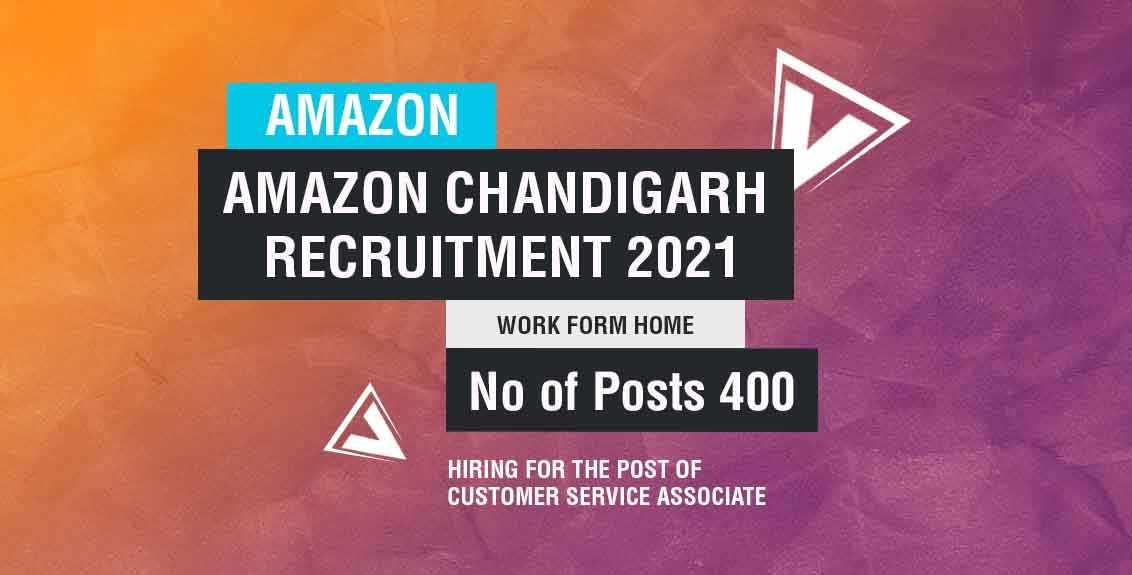 Amazon Chandigarh Recruitment 2021 Job Listing thumbnail.