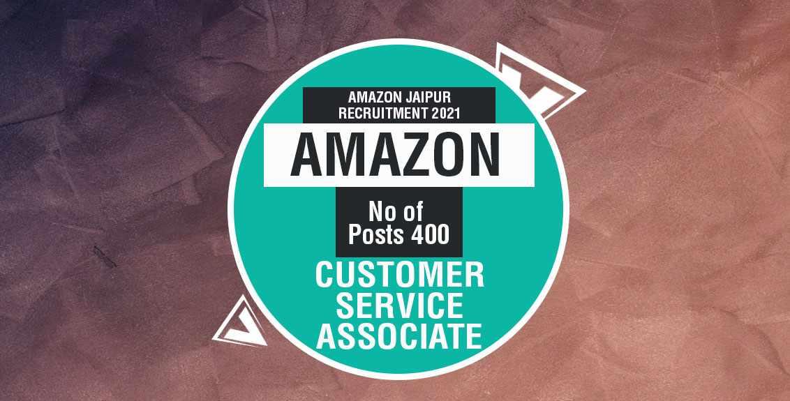 Amazon Jaipur Recruitment 2021 Job Listing thumbnail.