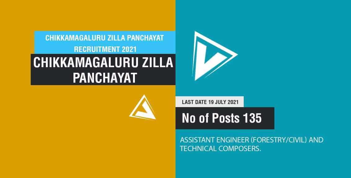 Chikkamagaluru Zilla Panchayat recruitment 2021 Job Listing thumbnail.