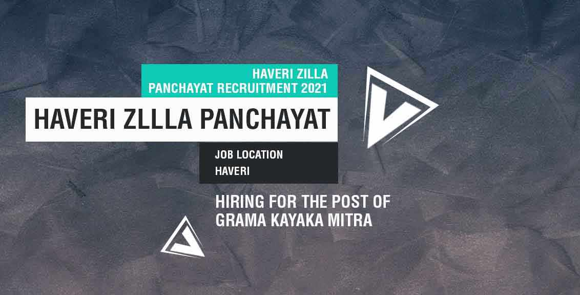 Haveri Zilla Panchayat Recruitment 2021 Job Listing thumbnail.