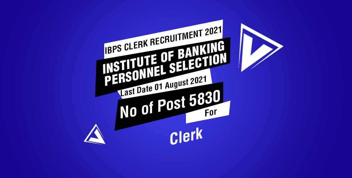 IBPS Clerk Recruitment 2021 Job Listing Thumbnail.