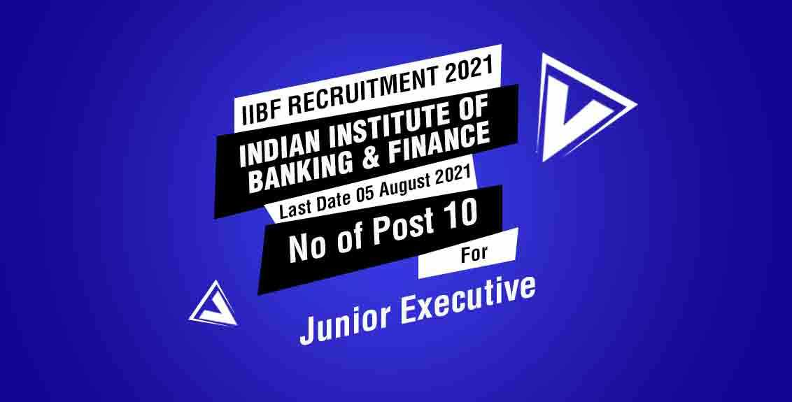 IIBF Recruitment 2021 Job Listing thumbnail.