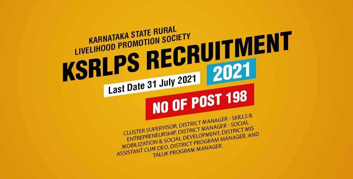 KSRLPS Recruitment 2021 Job Listing thumbnail.