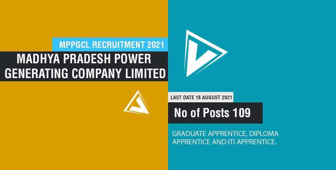 MPPGCL Recruitment 2021 Job Listing thumbnail.