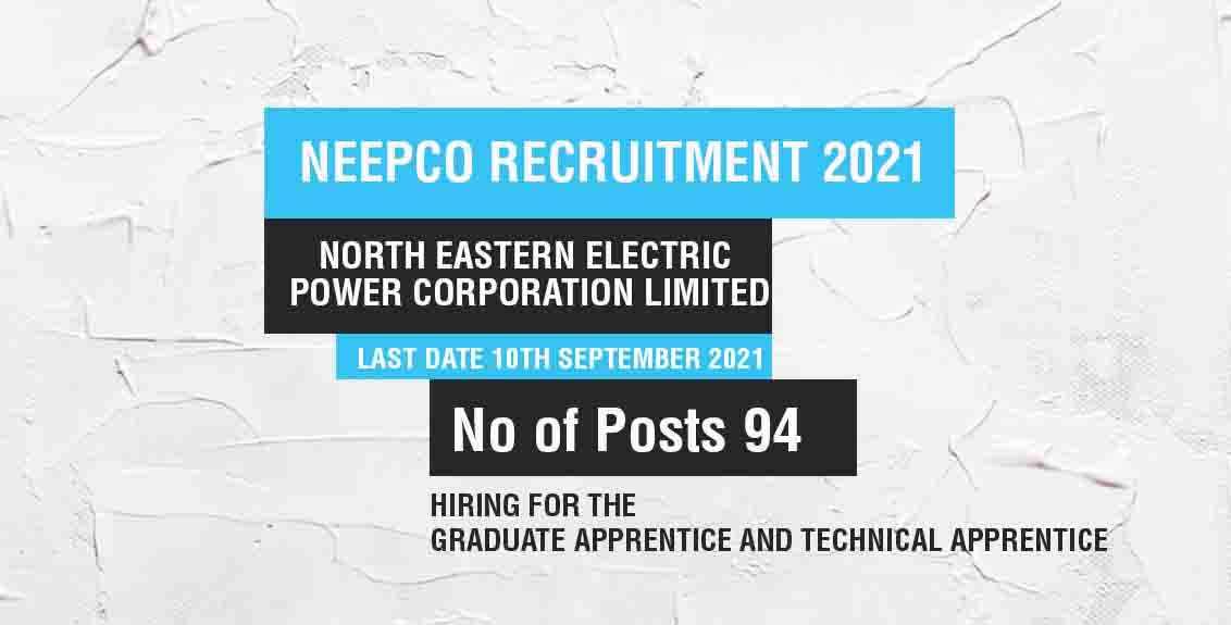 NEEPCO Recruitment 2021 job listing thumbnail.