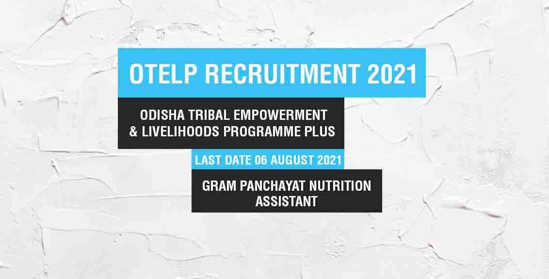 OTELP Recruitment 2021 Job Listing thumbnail.