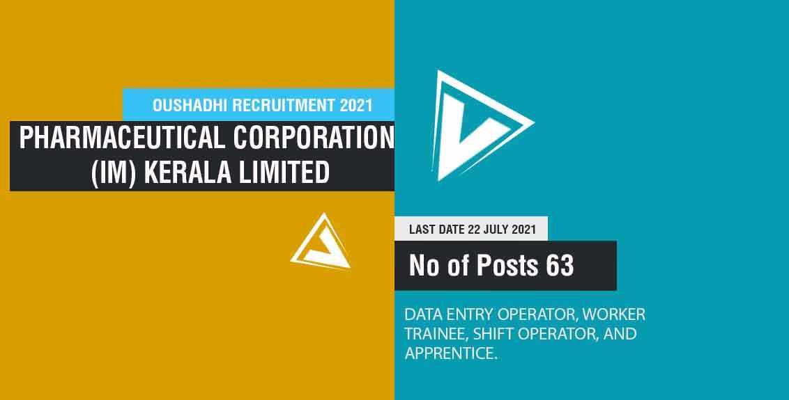 Oushadhi Recruitment 2021 Job Listing thumbnail.