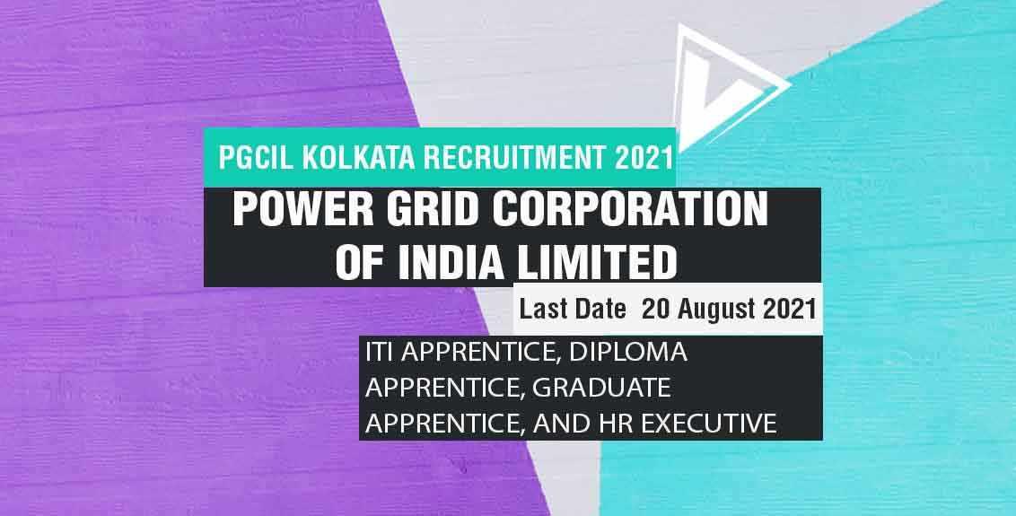 PGCIL Kolkata Recruitment 2021 Job Listing Thumbnail.