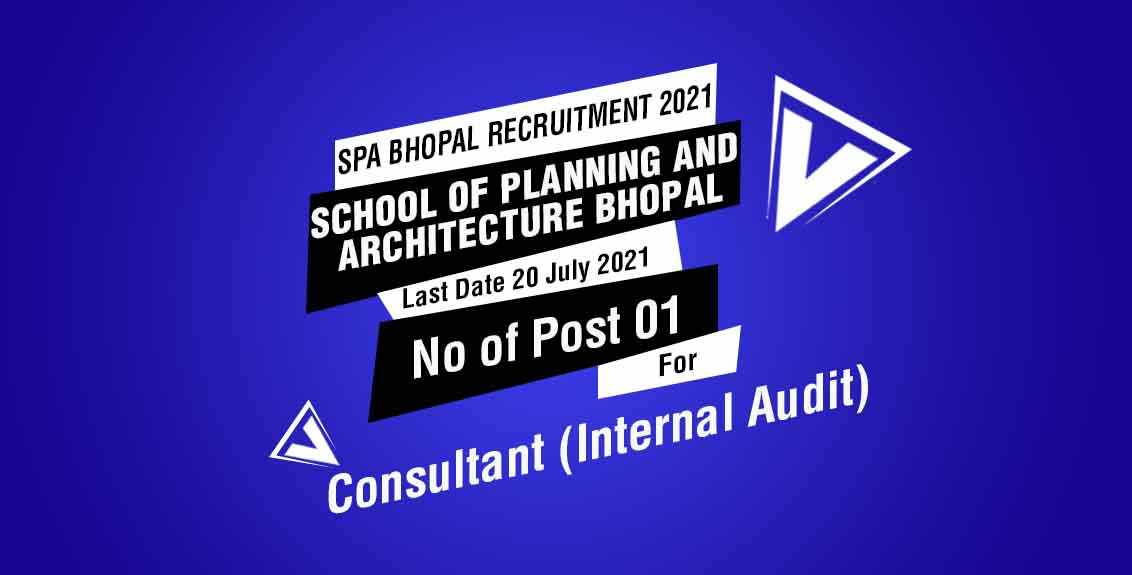 SPA Bhopal Recruitment 2021 Job Listing thumbnail.