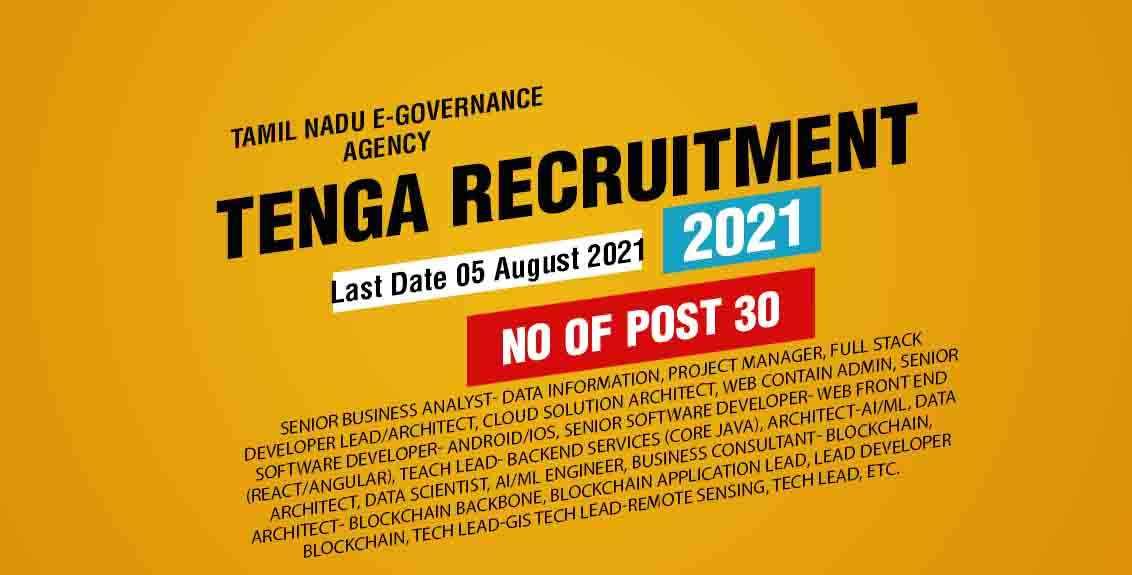 TENGA Recruitment 2021 Job Listing thumbnail.