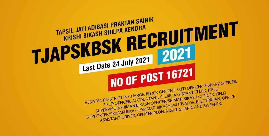 TJAPSKBSK Recruitment 2021 Job Listing thumbnail.