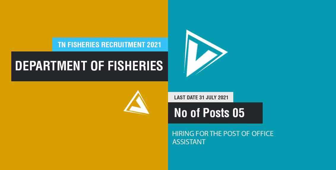 TN Fisheries Recruitment 2021 Job Listing thumbnail.