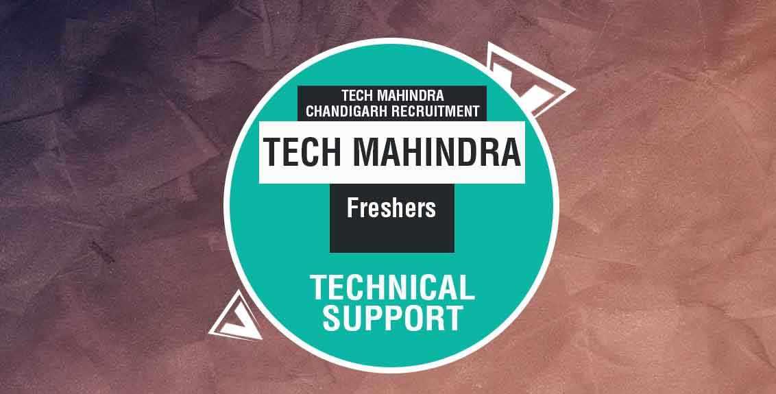 Tech Mahindra Chandigarh Recruitment 2021 Job Listing thumbnail.