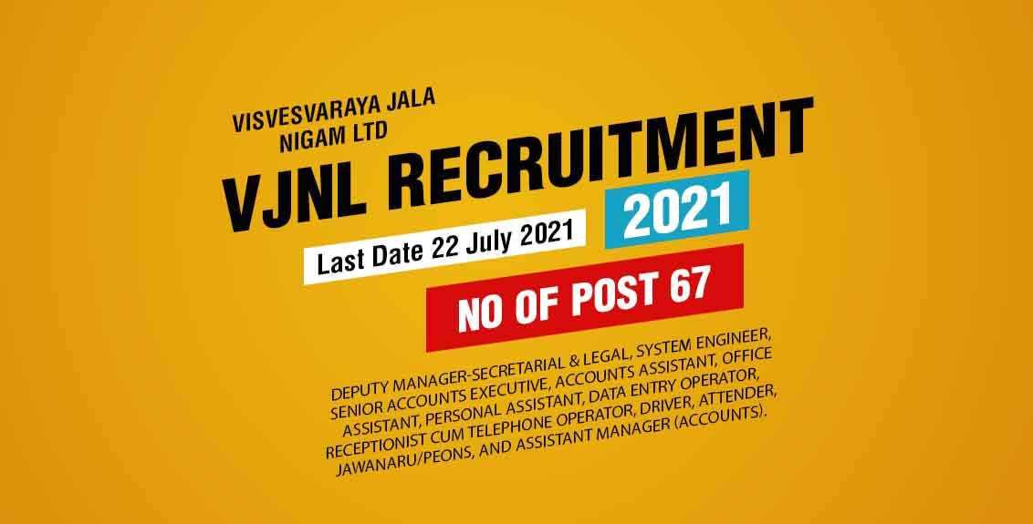 VJNL Recruitment 2021 Job Listing thumbnail.