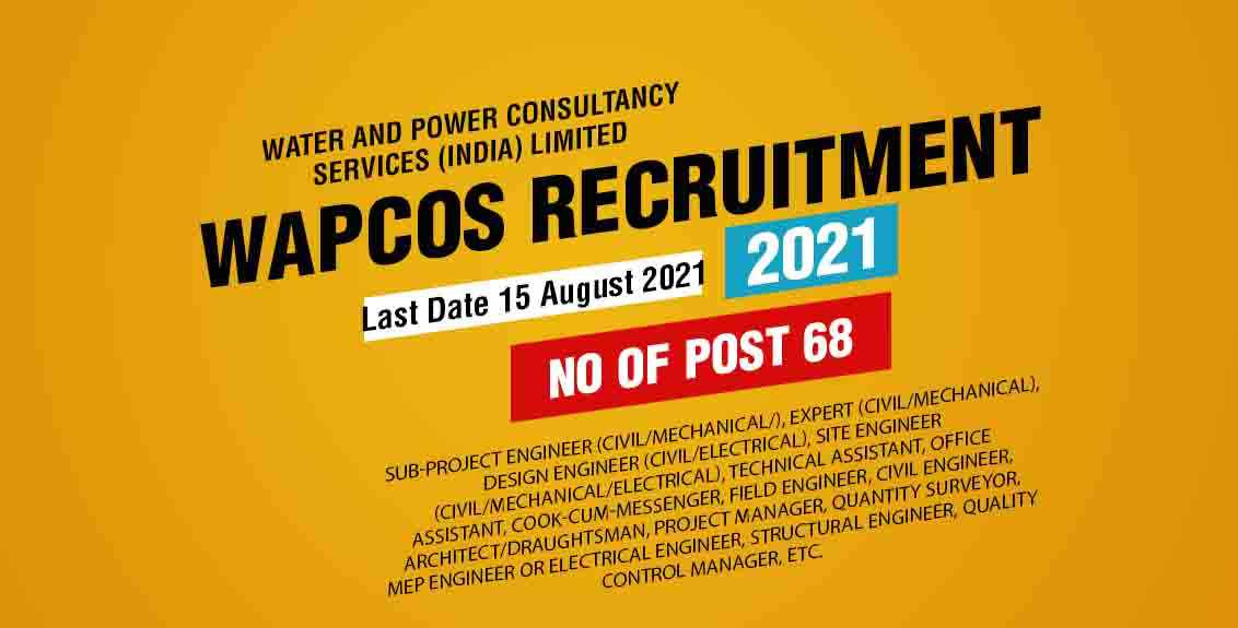 WAPCOS Recruitment 2021 Job Listing Thumbnail.