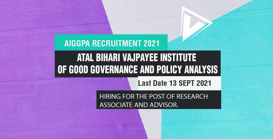 AIGGPA Recruitment 2021 Job Listing thumbnail.