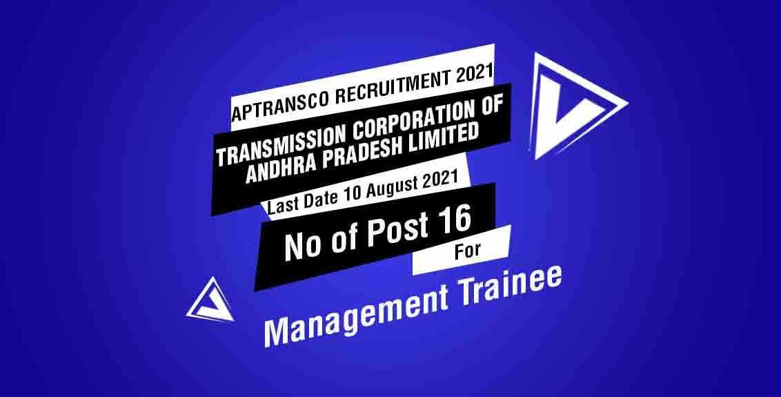 APTRANSCO Recruitment 2021 Job Listing thumbnail.