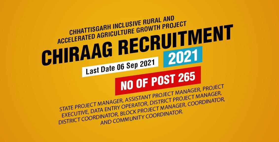 CHIRAAG Project Chhattisgarh Recruitment 2021 Job Listing thumbnail.
