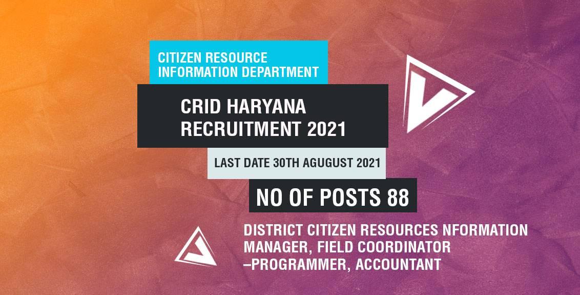 CITIZEN RESOURCE INFORMATION DEPARTMENT Job Listing thumbnail.