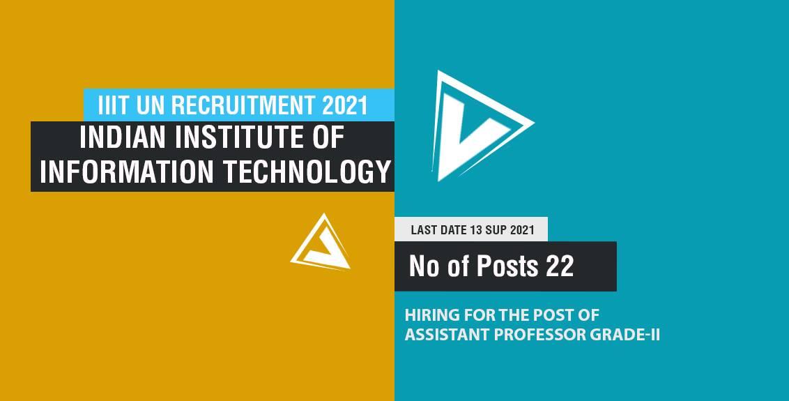 IIIT UN Recruitment 2021 Job Listing thumbnail.