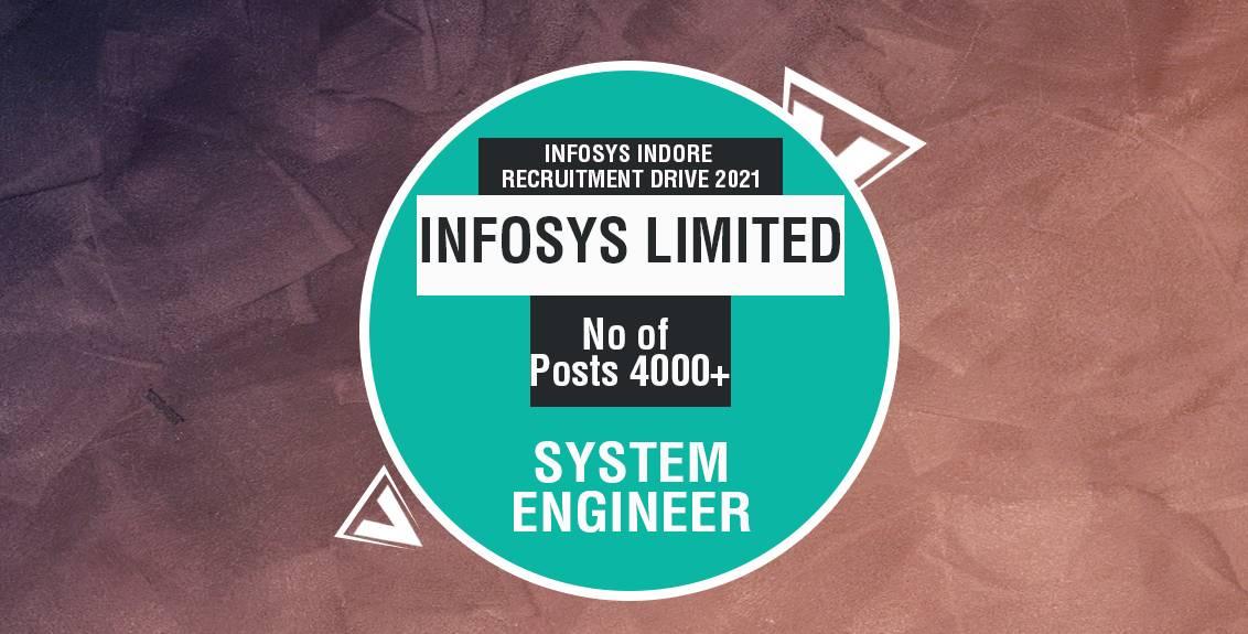 Infosys Indore Recruitment Drive 2021 Job Listing thumbnail.